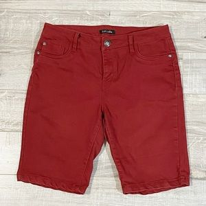 Suko Jeans Red Bermuda Stretchy Shorts 8